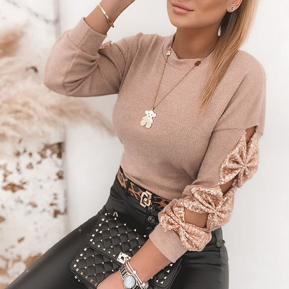 Sequin Bow Pullovers