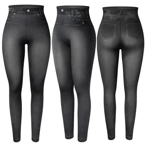 Tukshen Faux Denim Jeans Leggings