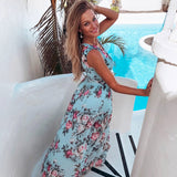 Chiffon Boho Floral Print Dress
