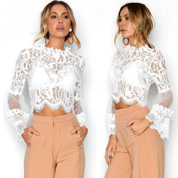 White Lace Blouse