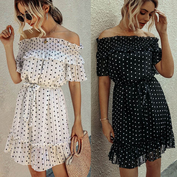 Elegant Chiffon Off Shoulder Dress