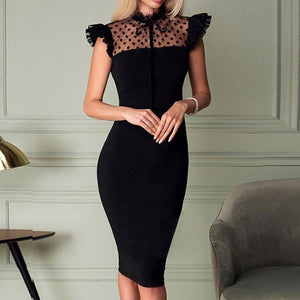 Elegant Hollow Out Slim Fit Dress