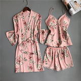Satin Silk 5PCS Night Wear Set