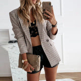 Button Down Plaid Blazer