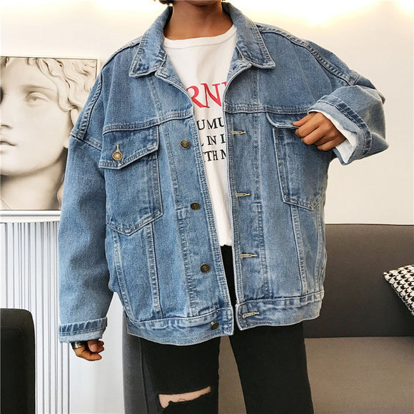 Casual Denim Boyfriend Style Jacket