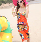 Spaghetti Strapless Women Dress for Vacation