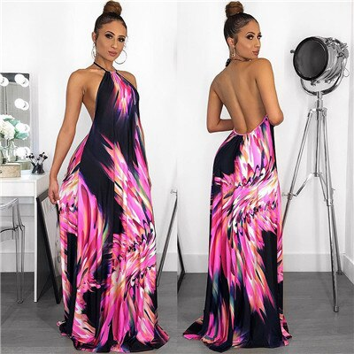 Tukshen Casual Maxi Dress