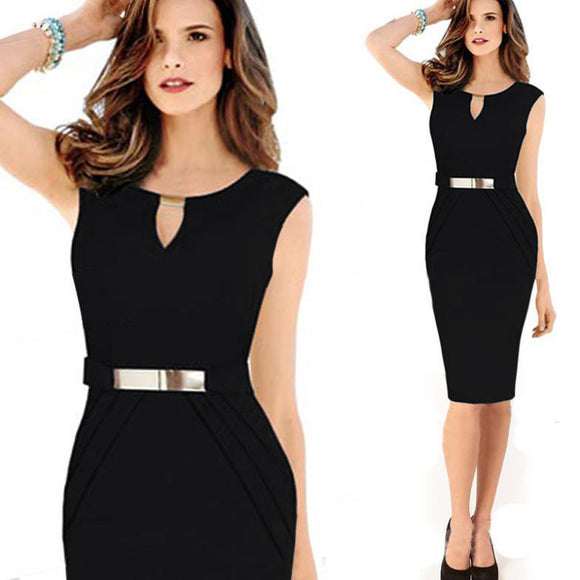 Casual Black Pencil dress