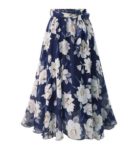 New Plus Size Chiffon Skirt