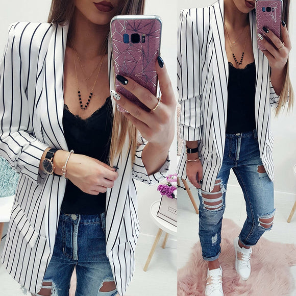 Latest Striped Blazer