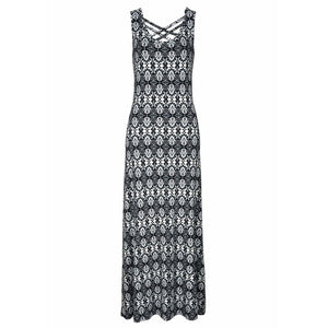 Halter Neck Boho Print Casual Dress