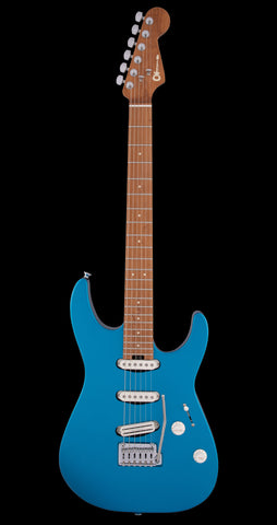 Charvel Dinky Pro Mod SSS 2 Point Trem, Caramel Maple Neck - Electric Blue (381)