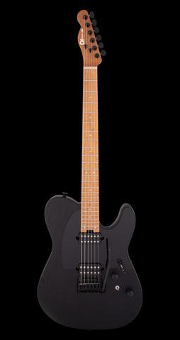 Charvel Pro Mod So-Cal Style 2 HH 2 Point Trem, Caramel Maple Neck - Black Ash (700)
