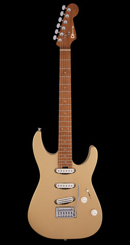 Charvel Dinky Pro Mod SSS 2 Point Trem, Caramel Maple Neck - Pharaohs Gold (190)