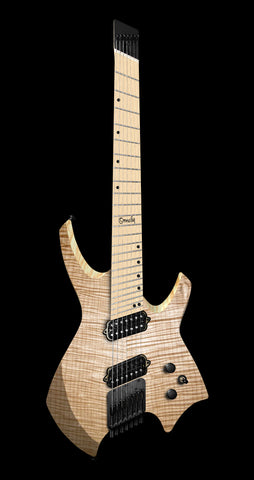 Ormsby Goliath GTR Flame Maple Exotic, Maple Fretboard, Natural - 6 String (Pre-Order)
