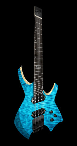 Ormsby Goliath GTR Flame Maple Exotic, Ebony Fretboard, Maya Blue - 6 String (Pre-Order)