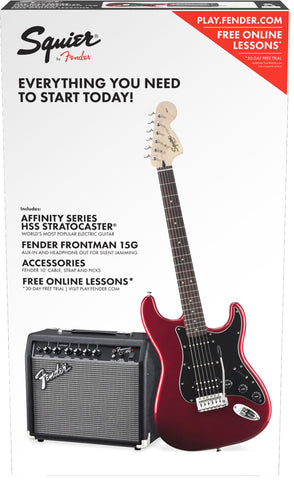 Fender Squier Affinity Series Stratocaster HSS Pack - Candy Apple Red (855) - Available at Lark Guitars