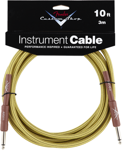 Fender Custom Shop Performance Series 10' Cable Straight to Straight - Tweed - Available at Lark Guitars