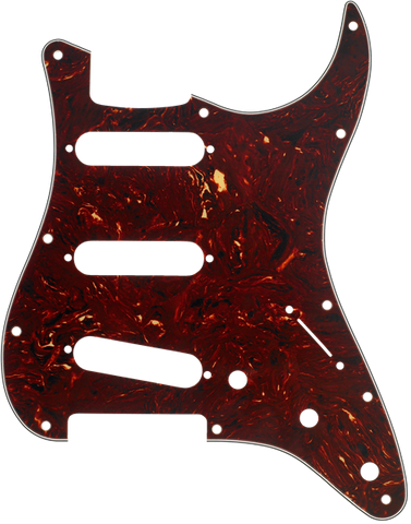 Fender 11-Hole Modern Stratocaster S/S/S Pickguard - Tortise Shell - Available at Lark Guitars