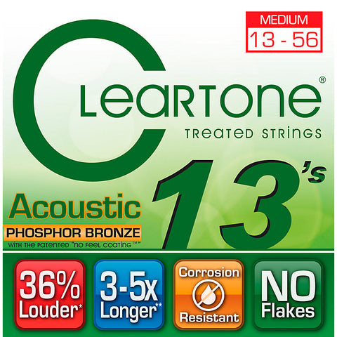 Cleartone Phosphor Bronze Medium Acoustic Strings 13-56 - Available at Lark Guitars