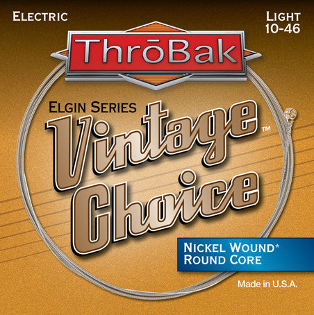 ThroBak Vintage Choice Nickel Wound Round Core Light Electric Strings 10-46 - Available at Lark Guitars