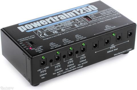 Pedaltrain PT-1250 Powertrain 1250 Multi Power Supply - Available at Lark Guitars