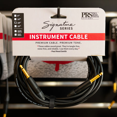PRS Signature Instrument Cable - 18ft Straight/Straight