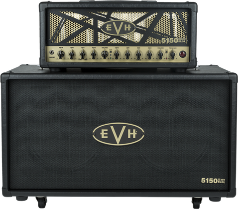 EVH 5150 III EL34 212ST 2x12 Cabinet - Black & Gold (327) - Available at Lark Guitars
