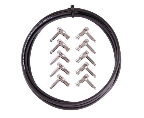 Lava Magma 229 DIY Kit : 10' Cable & 10 Right Angle Pancake Plugs - Nickel - LC229KN, Lava Cable - Lark Guitars