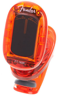 Fender FT-1620 California Series Clip-On Chromatic Tuner - Candy Apple Red - Available at Lark Guitars