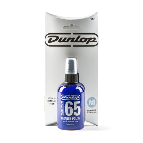 Dunlop P6521 Platinum 65 Cleaner Polish w/7 Microfiber Polish Cloth - Available at Lark Guitars
