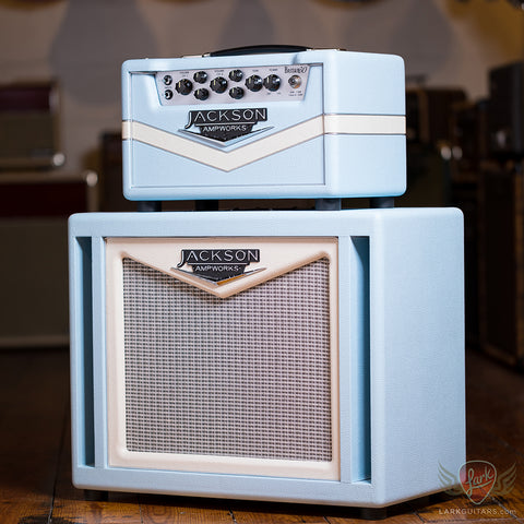 Jackson Ampworks Britain 30 Head and 1x12 Dual Ported Cabinet w/Alnico Gold - Baby Blue & Ivory (158) (011)