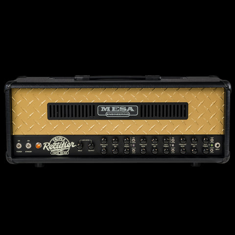 Mesa Boogie 50th Anniversary Limited Edition Triple Rectifier - Black with Gold Diamond Plate
