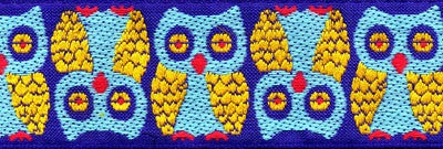 Souldier Owls Strap - Blue/Gold On Tan - GS0011TP01WB60