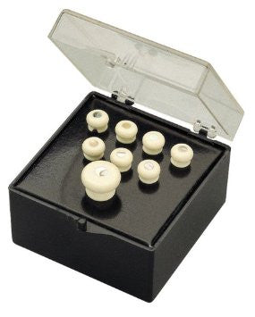 Martin Inlaid Bridge & Endpin Set - White w/Pearl Dots