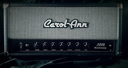 "Carol-Ann Amplifiers Limited Edition 10th Anniversary ""Shop Reference"" Head - Black w/Salt & Pepper Grill (006)"