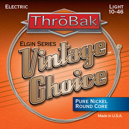 ThroBak Vintage Choice Pure Nickel Round Core X-Light Electric Strings 9-42 - Available at Lark Guitars