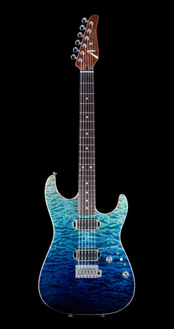 Tom Anderson Cobra S, Quilt Maple Top  - Sheer Blue Wipeout