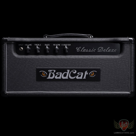 Bad Cat Classic Deluxe Head w/Reverb - Black Ostrich (326), Bad Cat Amplifiers - Lark Guitars