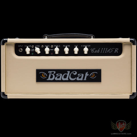 Bad Cat Cub III 15R Head - Cream Embossed Vinyl (423)