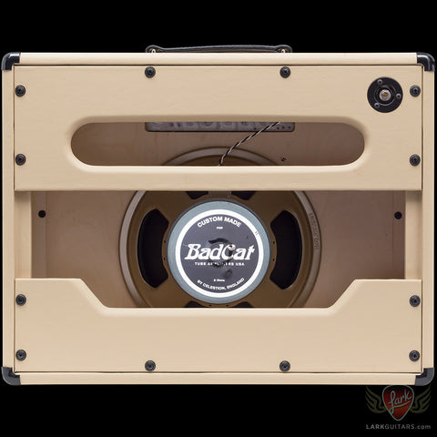 Bad Cat 1x12 Standard Extension Cabinet - Cream Embossed Vinyl w/Light Gold Grill - DEMO (424), Bad Cat Amplifiers - Lark Guitars