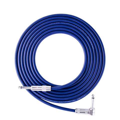 Lava Blue Demon Cable 20' Right Angle to Straight - LCBD20R