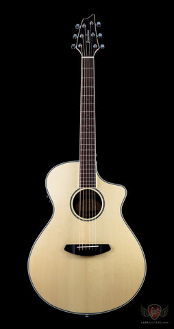 Breedlove Pursuit Exotic Concert CE Engelmann Spurce & Striped Ebony - Natural (546) - Available at Lark Guitars