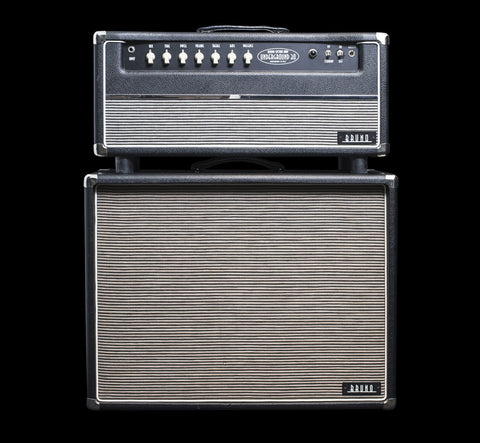 Pre-Owned Bruno Underground 30 Head w/Reverb & 2x12 Cabinet w/Alnico Blue & Scumback H75 (001), Pre-Owned Amplifiers - Lark Guitars