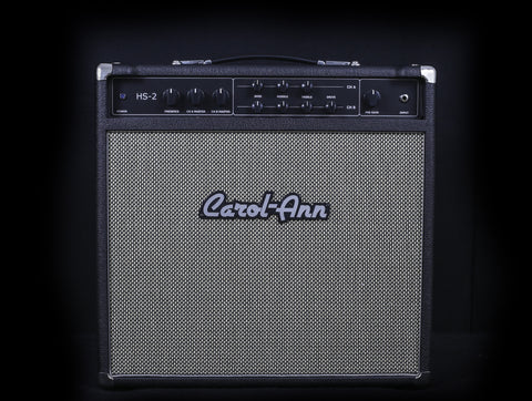 Carol-Ann Amplifiers HS-2 1x12 Combo w/G12M Creamback - Black w/Salt & Pepper Grill (005) - Available at Lark Guitars