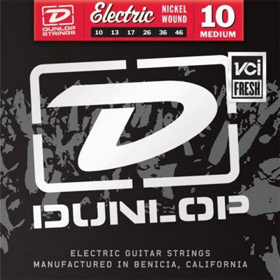 Dunlop DEN1046 Nickel Plated Steel Medium Electric Strings 10-46 - Available at Lark Guitars