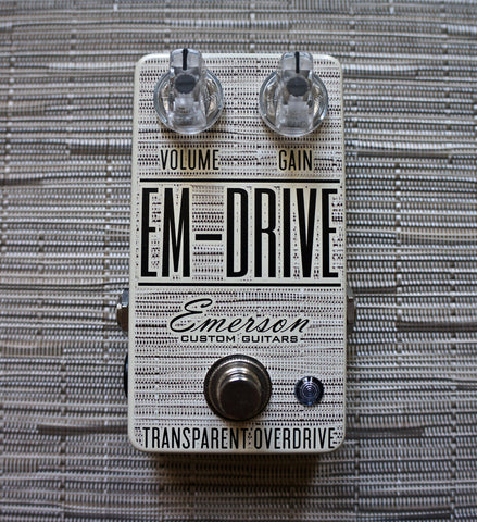 zSOLD - Emerson Custom EM-Drive Transparent Overdrive - Chalk Chilewich