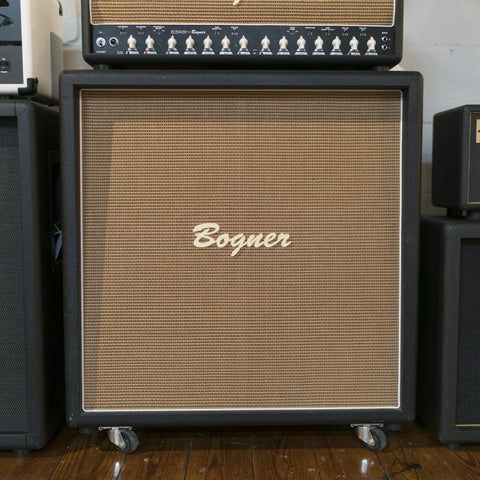Pre-Owned Bogner 4x12 Cabinet - Black w/Wheat Grill (007)