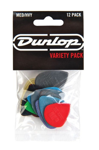 Dunlop PVP102 Pick Variety Pack Medium/Heavy Picks - 12-Pack - Available at Lark Guitars