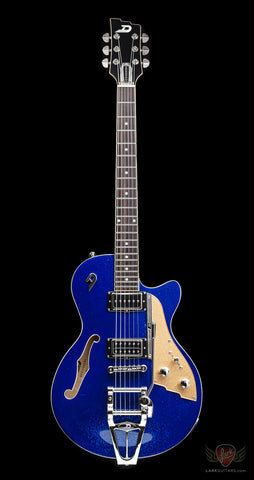 zSOLD - Duesenberg Starplayer TV - Blue Sparkle (074) - Available at Lark Guitars